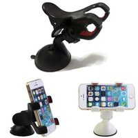 Wholesale Car Mount Holder Dvr - Double clip phone holder for car universal mobile cell phone mount car holder stand for iphone 6 6s plus galaxy S6 Car DVR GPS