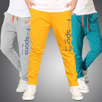 Wholesale Big Leg Pants - 2017 New Fashion 6 Colors Big Children Clothing Boys Sport Pant Trousers Spring Kids Long Pants Casual Boy Soft Cotton Pant A6954