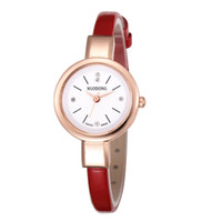 Wholesale new small girls dresses - Small women simple design leather watch 2017 wholesale fashion casual ladies girls students dress quartz diamond wrist watches