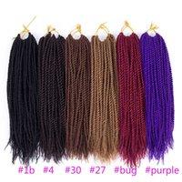 Wholesale 2x 12 - 2X Senegalese Crochet Twist Braid 12inch Havana Synthetic Hair Extensions Senegalese Twist Braiding Hair More Colors Avaliable