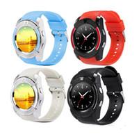ingrosso sim coreano-I più recenti orologi intelligenti V8 supportano la scheda SIM TF con fotocamera 0.3M MTK6261D Smartwatch per il supporto del telefono Android coreano olandese