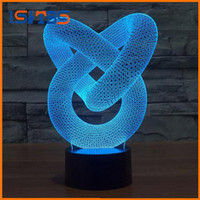Wholesale Decorate Wedding Cards - Creative 3D illusion Lamp LED Night Light 3D Abstract Graphics Acrylic lamparas Atmosphere Lamp Novelty Lighting home decorate