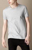 ingrosso comprare vestiti di cotone-Hot Buy Uomo Abbigliamento britannico Inghilterra Moda Leisure T-Shirt manica corta in cotone Solid Casual T-shirt Summer London Classic Polo