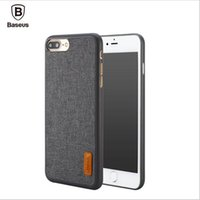 Wholesale Stylish Bag Case Cover - Baseus Phone Bag Case For 7   7 Plus Artistical Simple Stylish Grain Fabric Protective Mobile Phone Back Cover Case