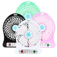 Mini ventilador Protable Multifuncional USB Rechargerable Kids Ventilador de mesa LED 18650 Batería ajustable 3Speed ​​mini ventilador de refrigeración USB Venta al por mayor