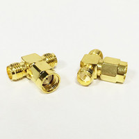 Wholesale rp sma plug for sale - 3 Way RF SMA Adapter Splitter RP SMA Male To RP SMA Female Adapter