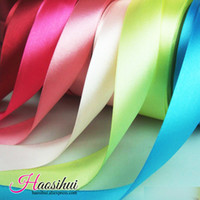 Wholesale Satin Ribbon Gift Decoration - 5 8''(16mm)100yards lot Satin Ribbon Wedding Party Festive Event Decoration Crafts Gifts Wrapping Apparel Sewing Fabric Supplies