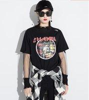 Wholesale Fashionable Shirts Cotton Women - 2017 Spring autumn New Pattern Fashionable casual Retro round neck Short sleeve Short T shirt woman