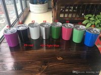 Wholesale Decoration Bottle Wine - PAY TODAY SHIP TODAY 9oz Cup Tumbler 304 Stainless Steel Wine Glasses Multicolors Wine Cups Mugs Vs Hydro Flask Cola Shaped Bottles