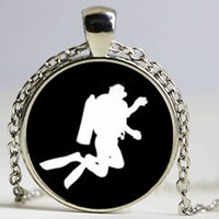 Wholesale China Sporting Casual Wholesalers - 2017 newest casual sport jewelry scuba diver swimming necklace Diving in the sea pendant trendy seamen aquanaut gift