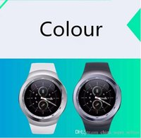 Wholesale Large Screen Phone Wholesale - New smart watch Y1 round screen GSM phone precision positioning watch 280mAh large capacity polymer battery