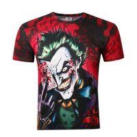 Wholesale Dark Knight Joker Shirt - Hot Selling Europ and American The Dark Knight Clown Joker 3d Printed Men's Novelty Short Sleeves Quick Breathable Dry Anti-Wrinkle T-shirt