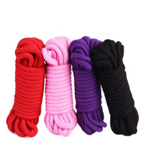 Wholesale Sex Tie Rope - 10M adult sex toys rope provocative alternative supplies cotton tied rope fetish sex restraint bondage free shipping