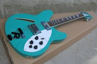 Wholesale Electric 12 String Guitar Blue - Wholesale- China guitar factory custom100% New light blue 12 Strings Rick electric guitar with R Tremolo free shipping 914