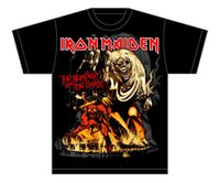 Wholesale White Iron Numbers - Global Men's Iron Maiden Number Of the Beast T-Shirt Tee