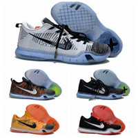 Wholesale Canvas Shoes Authentic - Wholesale kobe Basketball Shoes Men Kobe 10 X Elite Low Sneakers Boots Authentic Discount Outdoor Hot Sale Sports Shoes Size 7-11