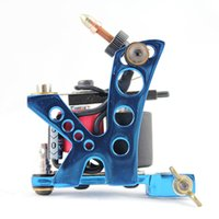 Wholesale Tattoo Gun Frames Sale - machine frames for sale OPHIR Blue 8 Wrap Coil Dual-coiled 6V-10V Gun Alloy Electric Tattoo Machine Shader Liner for Body