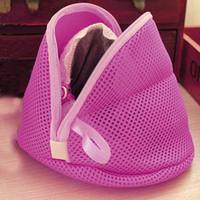 ingrosso lingerie piccole donne-Nuovo design Donne reggiseno lavanderia Lingerie Lavaggio Calze Saver Protect Mesh Small Bag drop shipping