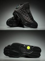 Wholesale High Altitude - Sneaker Retro Air 13 XIII Black Cat Altitude Mans 13s Basketball Shoes A High Quality Wholesale Size USA 8 13 Drop Shipping