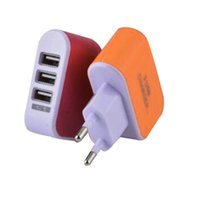 Wholesale Micro Usb Charger Wall Port - 2017 US EU Plug 3 USB Wall Chargers 5V 3.1A LED Adapter Travel Convenient Power Adaptor with triple USB Ports For Mobile Phone with opp bag