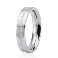 Wholesale Trendy Mens Rings - Engagement Ring Stainless Steel Silver Trendy Charming Jewelry Beautiful Women Mens Wedding Ring Choose Size 7 8 BJZ00233