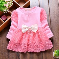 Wholesale Korean Style Jackets For Girls - 5 colors free shipping 2017 Spring Autumn New fashion Korean style Girls children Clothes bow-knot baby Jackets outerwear For 1-4 Y old kids