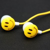 Wholesale Smile Headphones - Stereo Cartoon Smile 3.5mm Earphone Headphone Super Bass Headset for Mobile Phone iphone