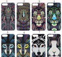 Wholesale Aztec Phone Cases - Amazing Aztec Jungle Animal Tiger Owl Wolf Night Light Glow Matte Hard Slim Phone Cases Cover For Iphone5 SE ,6 6s 7plus