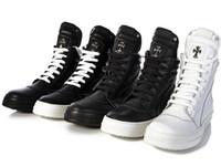 Wholesale White Silver Colors Platform - 2017 Military boots leather Winter Boots Fog high cut fear of god Boots platform Men women fashion Black White leather shoes size 36-45