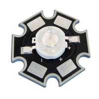 Vente en gros 10pcs / lot 20mm Star Base 1W Vert 520nm ~ 525nm 3.2V ~ 3.4V 300mA LED Light Lamp Emitter