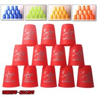 Wholesale Speed Cup Stacking Sets - 12pcs set Family Board Game Speed Stacks Cups Stacking Game Card Games Competitor Sport Funny Party Challenge Quick Cups Indoor Game For Kid