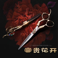 Wholesale Hair Scissors Hitachi - smitch chu professional hairdressing scissors set Hitachi 440C steel flat cutting thinning shears set salon hair stylist barber shears XZ66