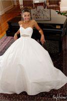 Wholesale Sweetheart Court Train Taffeta Tulle - Vintage Ivory Taffeta Backless Wedding Dresses 2017 Cheap Sweetheart Crystal Belt Plus Size Corset Bridal Gowns New Arrival