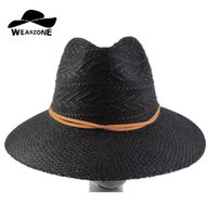 Wholesale Cheap Papers Straws - Wholesale- Hot New Fashion Summer Casual Women Ladies Wide Brim Beach Sun Hat Elegant Straw Floppy Bohemia Cap For Women Dating Cheap