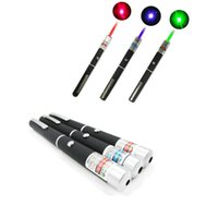 Wholesale Green Red Blue Laser Pointer - 5mW High Power Green Blue Red Laser Pointer Pen 532NM-405NM Visible Beam Light Powerful Lazer Free Shipping