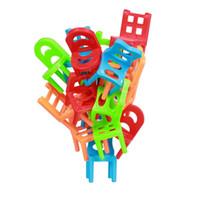 yığın oyunu toptan satış-Çocuk Oyuncak Dengesi Sandalyeler Sıcak Tahta Oyunları 18x Plastik Çocuklar Denge Oyuncak için Denge Oyuncak İstifleme Sandalyeler Oyun Kartı Oyunu Oyuncaklar MTG