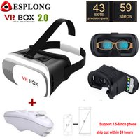 Großhandel-VR BOX 2.0 Gafas Google Karton Virtual Reality 3D VR Gläser für iPhone xiaomi 3.5 - 6.0 Zoll Smartphone + Bluetooth Gamepad