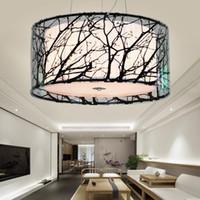 chino negro acrlico rbol ramificacin comedor lmpara colgante de techo restaurante lmparas sala de estudio dormitorio colgante ilumina