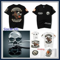Uomini e Donne Unisex Moda Punk Skull Style stampato due ruote Stock Rider Uomo Vintage Roll Rock Harley Band T Plus Size Shirt