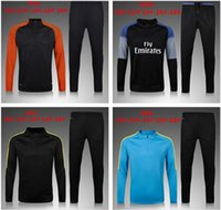 Wholesale Jacket For Jogging - man city kids football jacket KUN AGUERO DE BYUYNE 2016  17 survetement tracksuit sweatshirts tracksuits jogging kit for kids