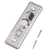puertas de acceso de acero inoxidable al por mayor-Venta al por mayor- puerta de acero inoxidable interruptor de la puerta de salida de la puerta botón de liberación para el sistema de control de acceso
