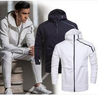 Wholesale Men S Hoody Jacket Coat - Brand Spring And Fall men's sports jacket hooded jacket Men casual Thin Windbreaker Zipper sportwear Fashion ZNE hoody Coats