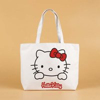 Wholesale Supermarket Supplies - Cute hello kitty Shopping Bags Reusable Tote Women's Grocery Supermarket tote Wholesale Bulk Lots Accessories Supplies