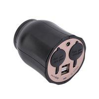 12v steckdosenadapter splitter usb großhandel-2-Wege-Auto-Steckdosensplitter Zigarettenanzünder-Splitter Ladegerät Netzteil + Dual-USB-Port-Stecker DC 5V-12V