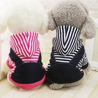 Invierno cálido Pet Dog Clothes Small Medium Large Dogs Coat Chaqueta Sudadera con capucha Stripe Puppy Chihuahua Costume Clothing XS-5XL
