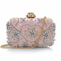Wholesale colored clutches - Evening purses shoulder bags party purses for women champagne colored evening bags silver beaded clutch evening bag