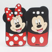 Wholesale Iphone Cases Silicon Animals - 3D Cartoon animals cute minnie mickey mouse case For iphone 6 6s 7 plus 7plus 6plus 5 5s samsung s3 note 3 4 5 7 j1 j5 j7 silicon back cover