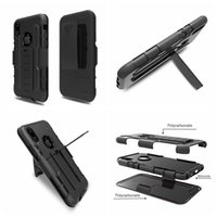 Wholesale Iphone Holder Belt Clip - Kickstand Holster Case With Belt Clip For Iphone X Galaxy Note8 Note 8 3 in 1 Hybrid Shockproof Hard PC+Silicon Holder Armor Slider Cover