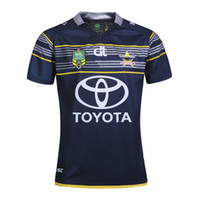 Wholesale Rugby Cowboys - Top Quality North Queensland Cowboys NRL 2017 Rugby Jersey O-Neck Short Sleeve nrl Rugby Jerseys Men Shirts Euro Size S-2XL