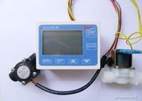 "Wholesale flow gauges - Wholesale- New G1 2"" Water Flow Control LCD Display + Solenoid Valve Gauge + Flow Sensor Meter"